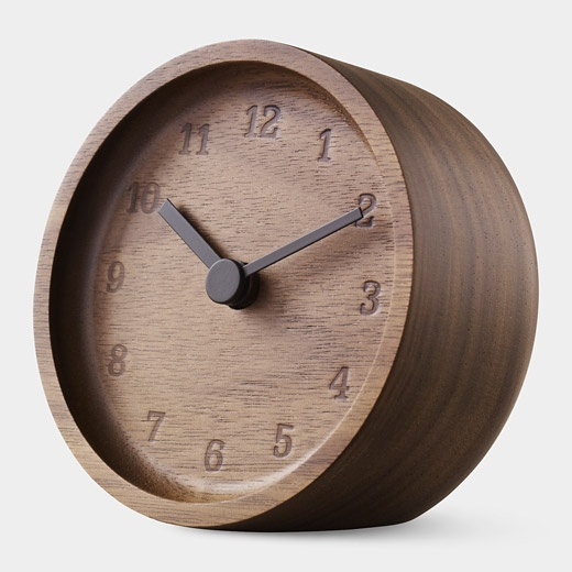 Walnut Desk ClockOmexey Clocks, Desks Clocks, Walnut Clocks, Moma Stores Clocks, Walnut Desks, Products Inventions, Wood Time, Mantles, Appliances Products