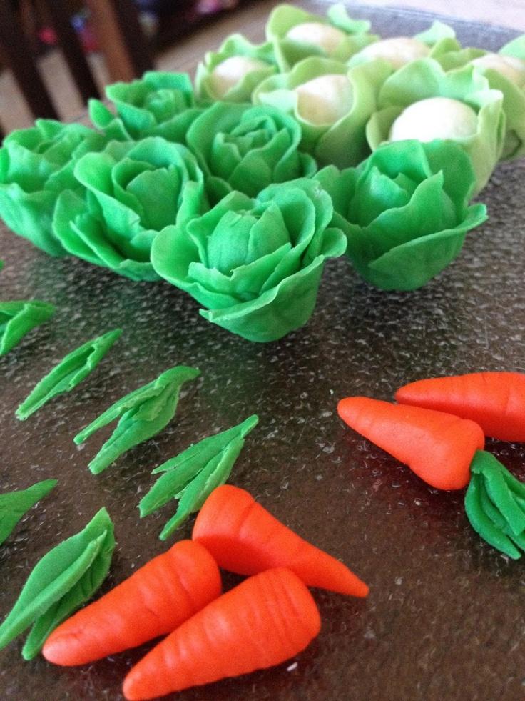 Fondant veggies