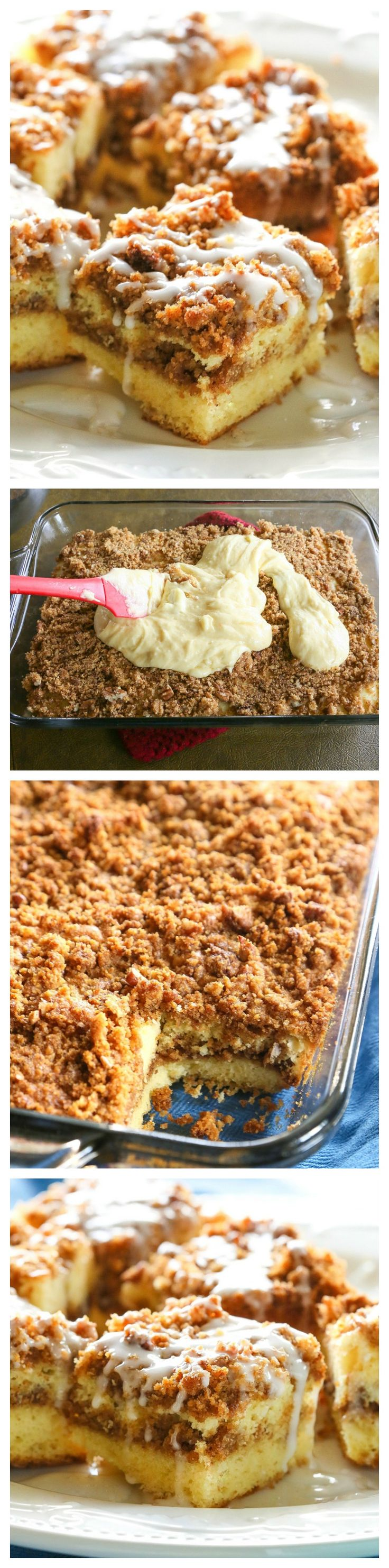 Graham Streusel Coffee Cake - an unbelievably easy coffee cake with lots of brown sugar, graham crackers, and cinnamon. http://the-girl-who-ate-everything.com