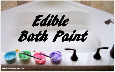 Edible Bath Paint Using Whipped Cream