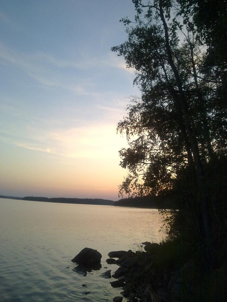 Ruokolahti, Eastern Finland. 10 pm, end of July.