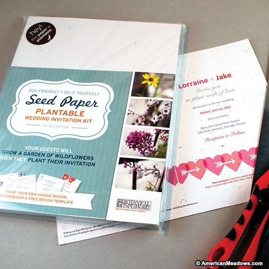 Do It Yourself Seed Wedding Invitation Kit