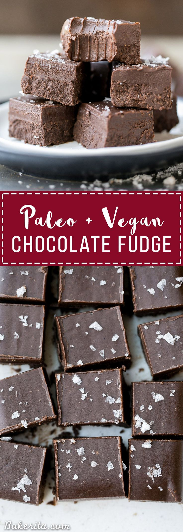 This Chocolate Fudge is incredibly smooth, rich and chocolatey. It's made with only four wholesome ingredients, there's no cooking required, and it's Paleo + vegan! It's the perfect holiday treat.