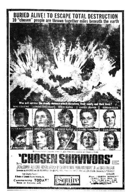 chosen survivors 1974   AICN HORROR looks at THE GREASY STRANGLER! PHANTASM V: RAVAGER! SLUGS ...