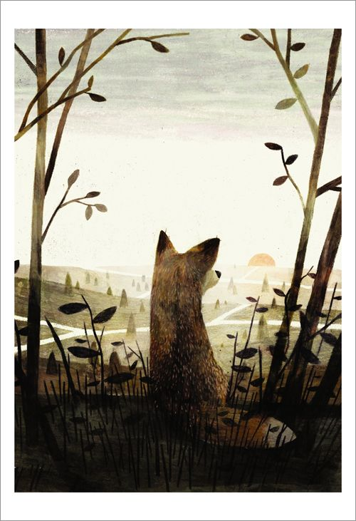 "Jon Klassen, cover illustration for the book ""Pax"" by Sara Pennypacker"