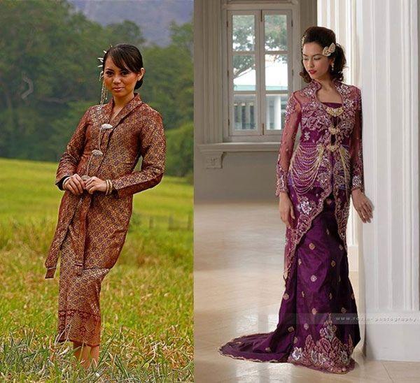 ชุดของผู้หญิงเรียกว่า บาจูกุรุง (Baju Kurung) ประกอบด้วยเสื้อคลุมแขนยาว และกระโปรงยาว