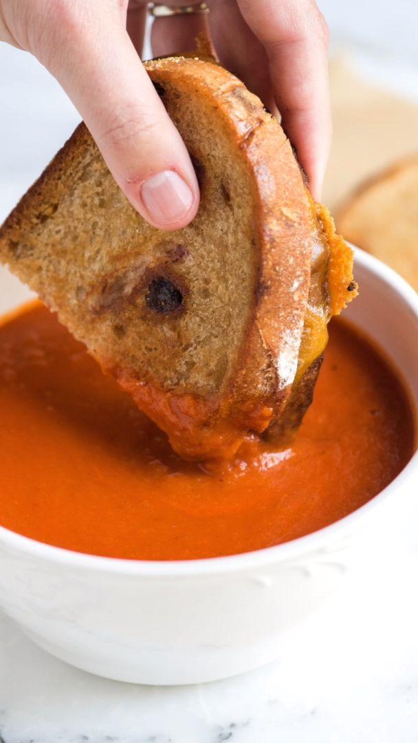 Einfache Drei-Zutaten-Tomatensuppe