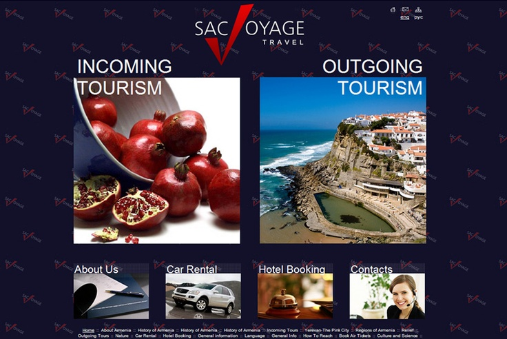 "Site of the Armenian tour operator ""SacVoyageTravel"""