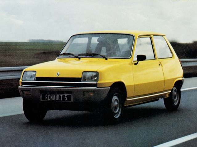 Renault 5: the first car I bought myself (unfortunately). It has an umbrella sticking out of the dashboard!