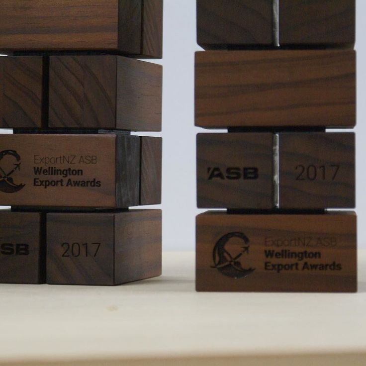 Just finished up some sexy new trophies for Export Wellington. #nztimber @abodowood thanks for the timber. #woodworking #lasercutwood #designandproduction #shippingcontainer #madeofwellington #wellingtonmade