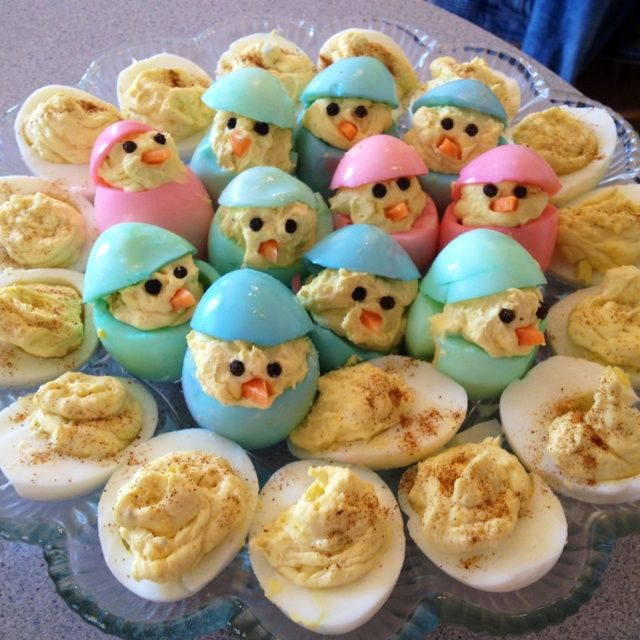 appetizers instead of lunch with an early dinner? cute! easter dinner | Eggs for Easter dinner!