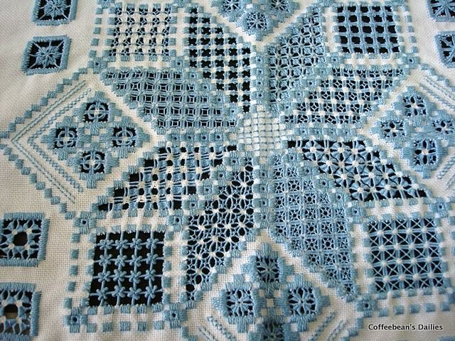 incredible hardanger work - see the rest of the post for more photos