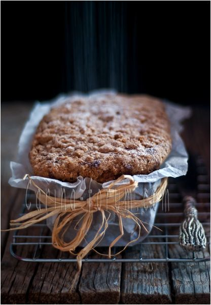 RECIPE ~ Dutch apple walnut loaf. This is simple looking but absolutely delicious fruity streusel-topped bread, delightful for brunch or dessert.