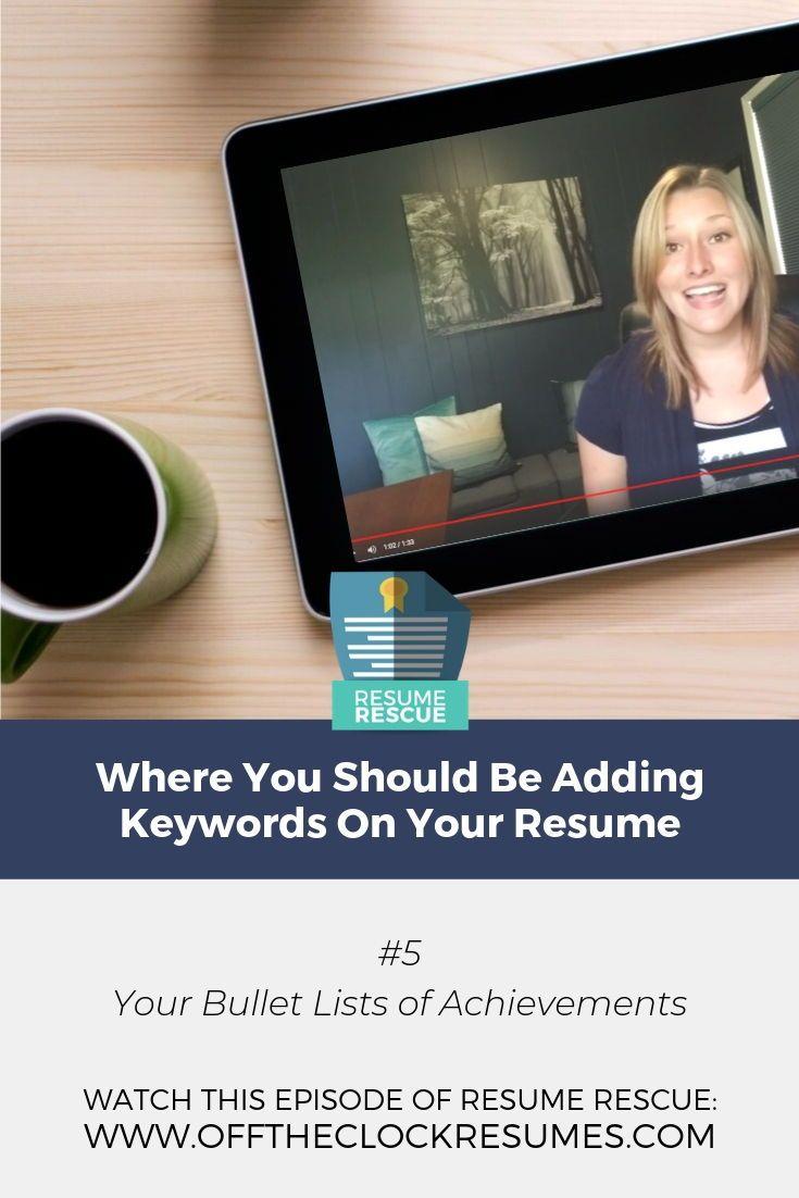 Wo Sie Keywords zu Ihrem Lebenslauf hinzufügen sollten
