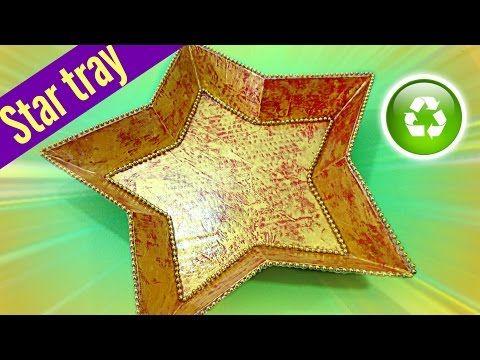 DIY Christmas decorations, Star tray. Bandeja estrella - YouTube