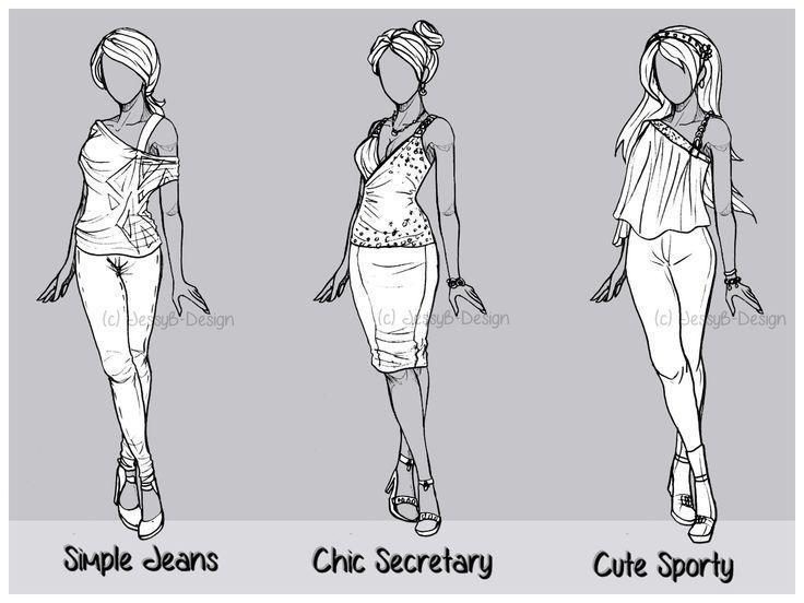 Outfit Design Batch 3 Close By Jessyb Design Deviantart Com On