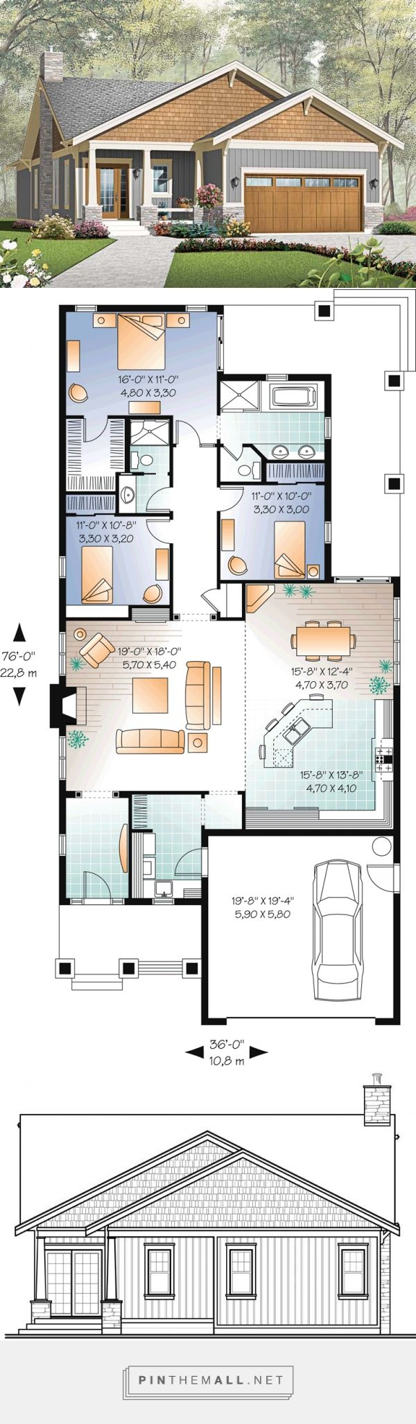 25 best house plans ideas on pinterest 4 bedroom house plans blue open plan bathrooms and country house plans - Housing Plans