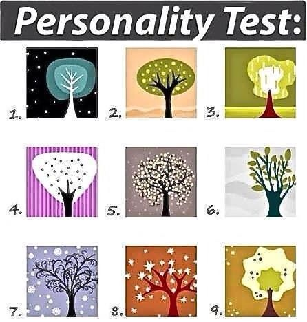 Personality Test. Pick the tree that looks most appealing to you. DONT THINK ABOUT IT. Then click the picture for the results.