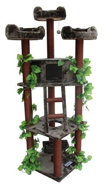 KITTY Mansions Cat Condo Tree Pet furniture climbing Treehouse Scratching Post #IDS