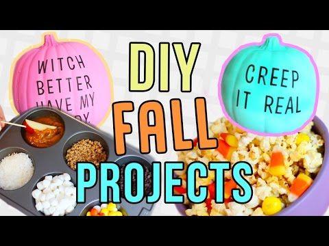 Fall DIYs You NEED To Try! DIY Pinterest Decor & Recipes! - YouTube