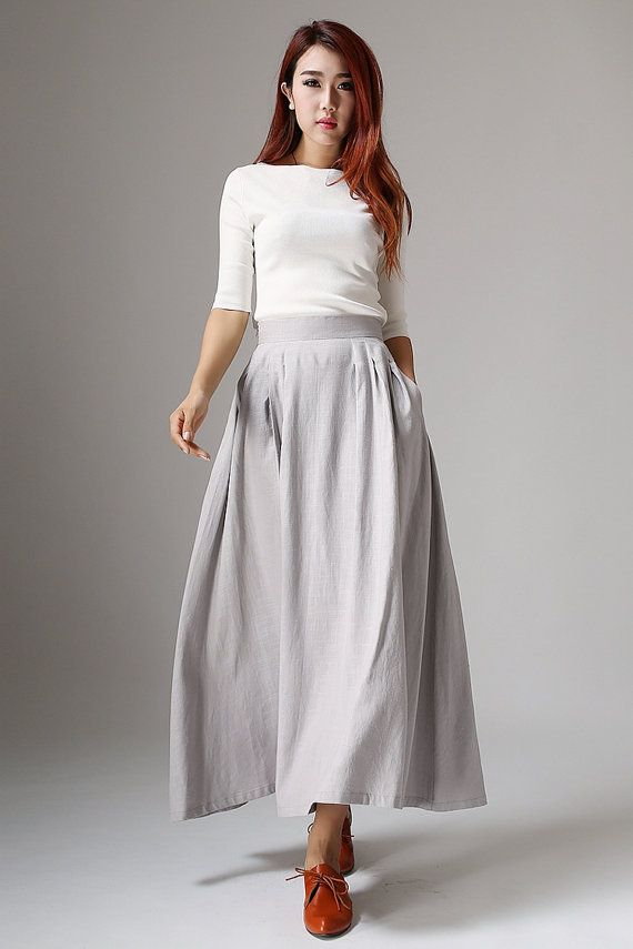 Hey, I found this really awesome Etsy listing at https://www.etsy.com/listing/196415859/maxi-skirt-linen-skirt-a-line-skirt