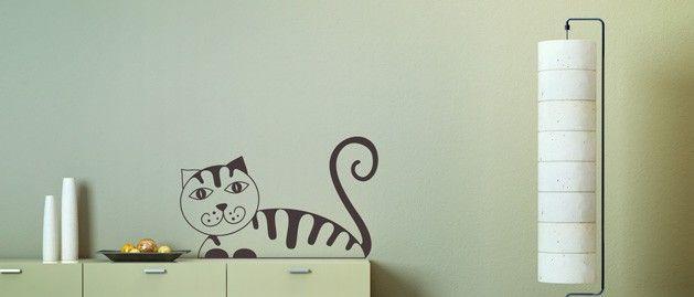 Kočka A (1355) / Samolepky na zeď, stěnu a nábytek