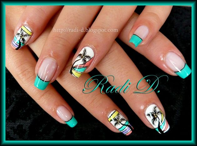 72 best Palm tree nail designs images on Pinterest