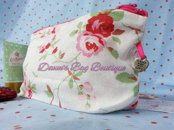 Make up/cosmetic bag, Makeup bag, Cath Kidston/IKEA Rosali White