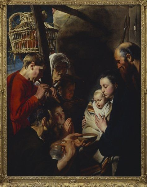 The Adoration of the Shepherds   by Jacob Jordaens