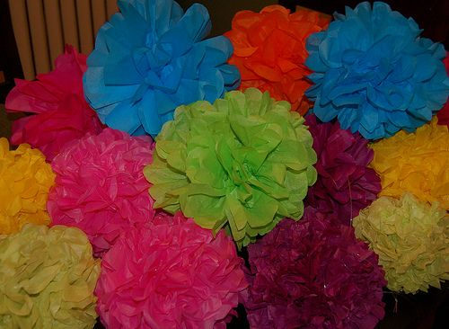 Tissue Paper flowers: Paper Flowers Ball, Paper Flowers Tutorials, Tissue Paper Rose, Summer Crafts Parties Decor, Tissue Paper Flowers, Parties Ideas, Summer Decor Crafts Paper, Back Yard Parties Decor, Tissue Flowers