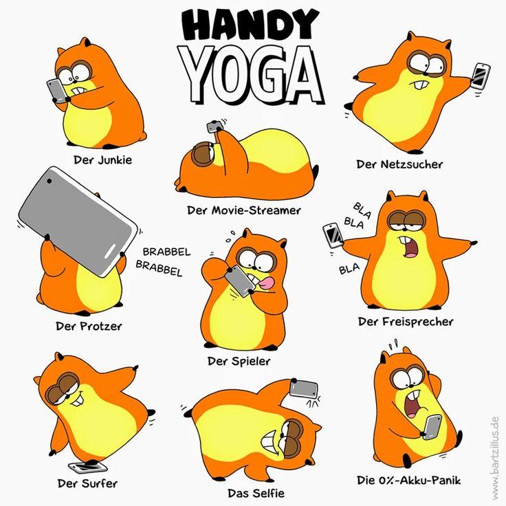 Poweryoga Hamster Handy Yoga  Fitness  Yoga Bilder