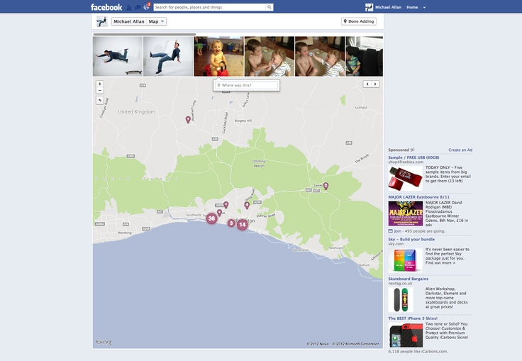 Facebook map section