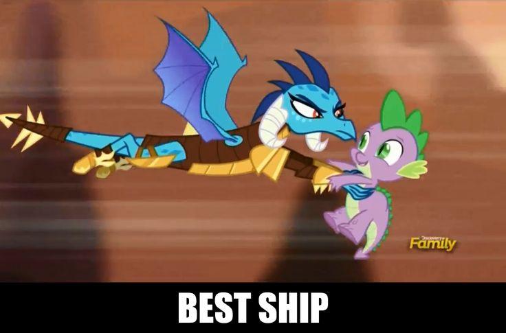 #1133213 - emberspike, gauntlet of fire, princess ember, safe, screencap, spike, spoiler:s06e05 - Derpibooru - My Little Pony: Friendship is Magic Imageboard