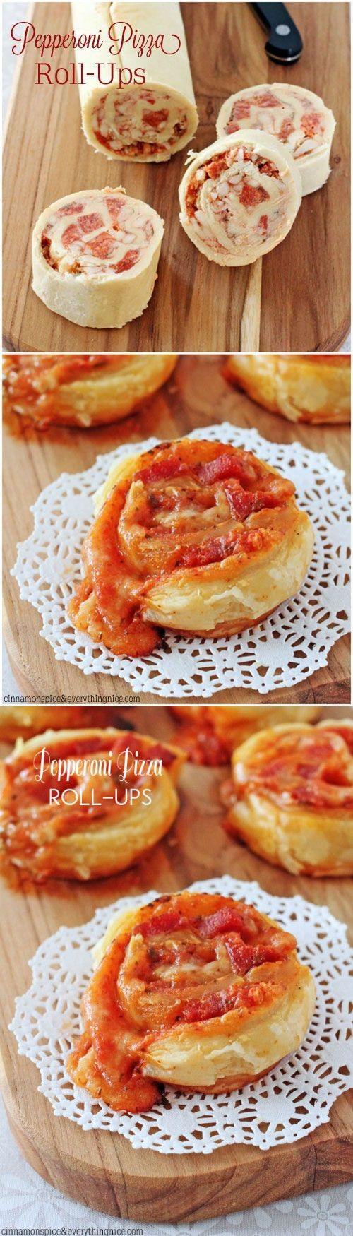 Slice and Bake Pepperoni Pizza Puff Pastry Roll-Ups