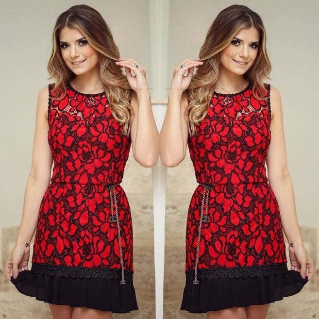 Stylové dámské šaty krajkové červenočerné – Velikost L Na tento produkt se vztahuje nejen zajímavá sleva, ale také poštovné zdarma! Využij této výhodné nabídky a ušetři na poštovném, stejně jako to udělalo již velké množství …