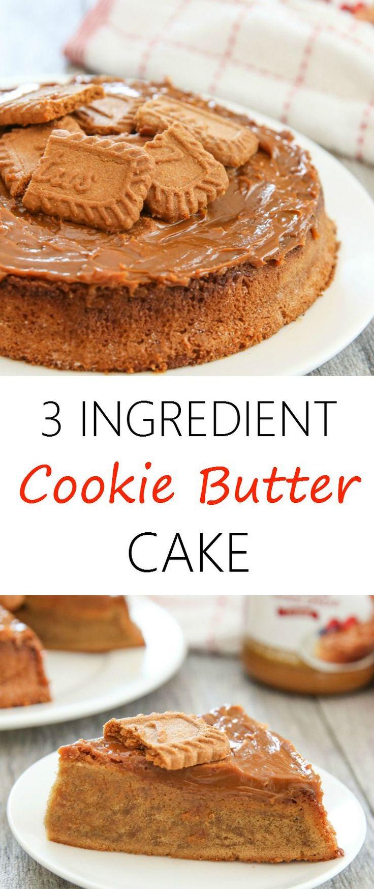 3 Ingredient Cookie Butter Cake   Kirbie's Cravings   A San Diego food blog