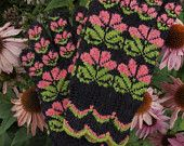 Fein Hand gestrickte Seto (Estnisch) Handschuhe im sibirischen Stil