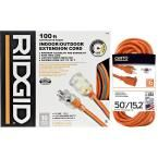 Ridgid 100 ft. 10-3 Extension Cord + Free 50 ft. 16-3 Extension Cord