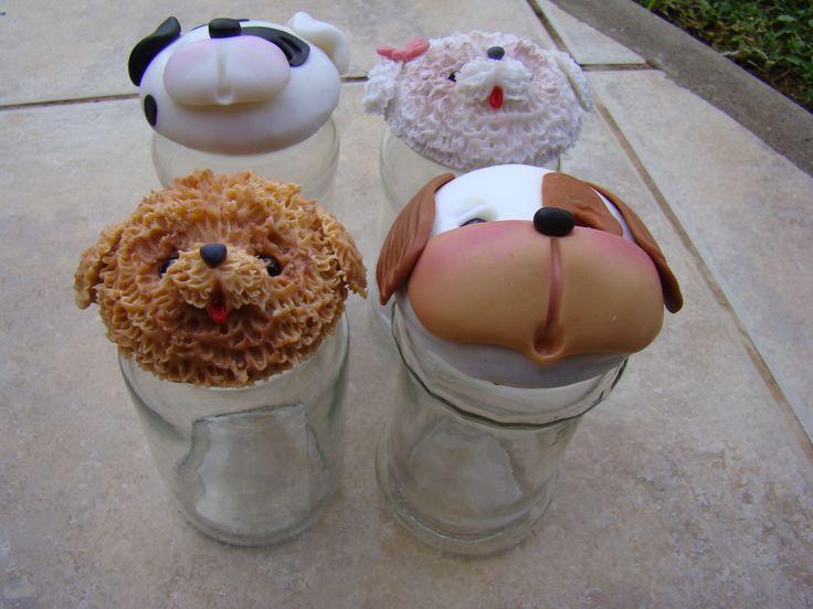 Frascos decorados con porcelana fria frascos decorados - Frascos de vidrio decorados ...