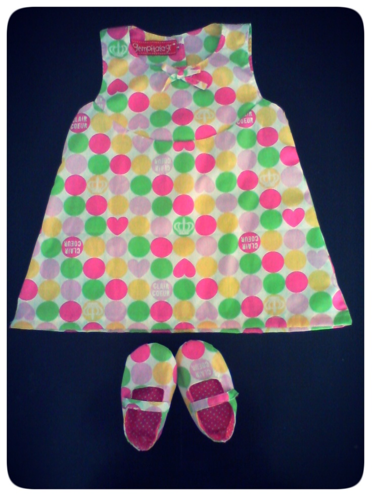 endless summer polka baby dress and shoes
