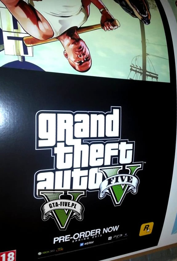 GTA 5 Poster shows output in spring 2013