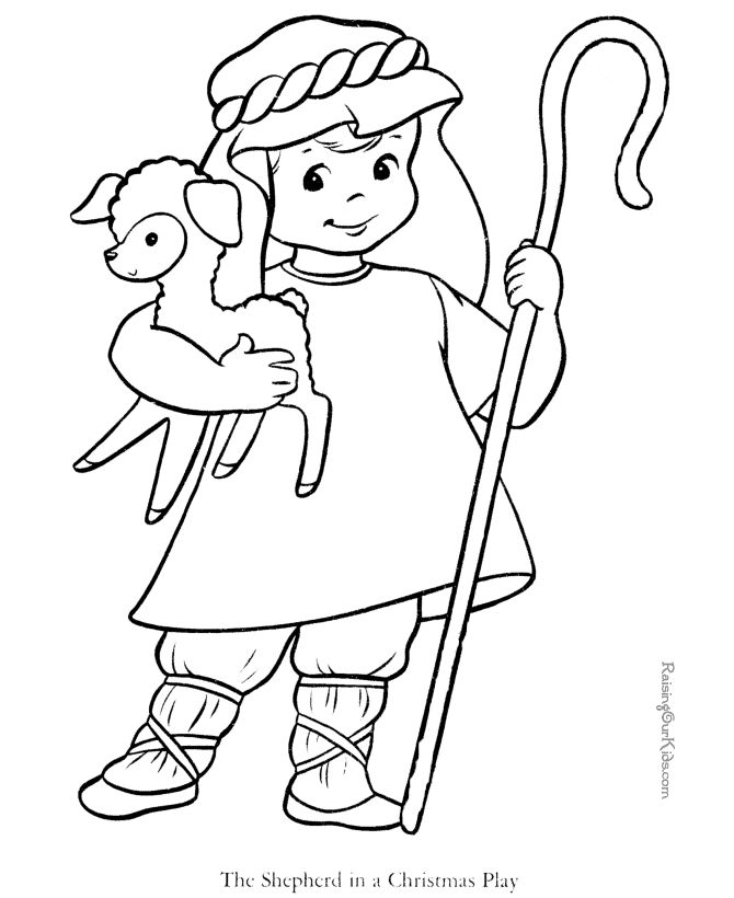 shepherd and sheep free printable bible coloring page