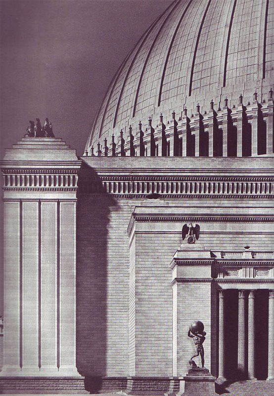 Welthauptstadt germania volkshalle 1941 for Architecture nazi