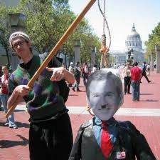Double standard: 10 images mocking George W. Bush that were far worse than a harmless rodeo clown.