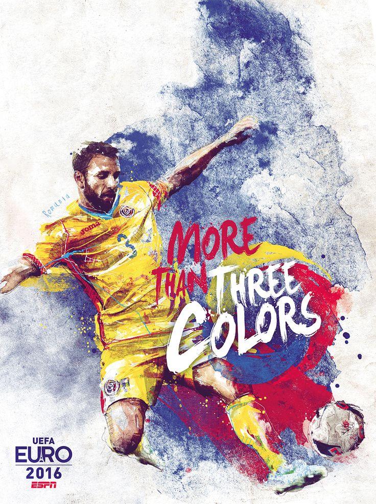 CARTAZES ILUSTRATIVOS DA EUROCOPA 2016. Florain Nicolle #poster #cartaz…