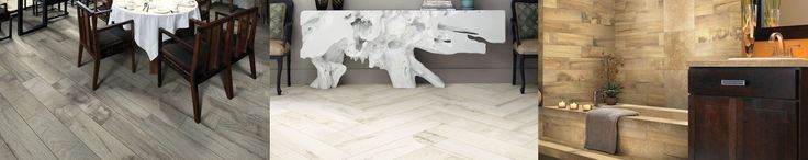 Beautiful porcelain tile plank flooring made too look like hardwood flooring! Waterproof and approved for use on walls and floors!