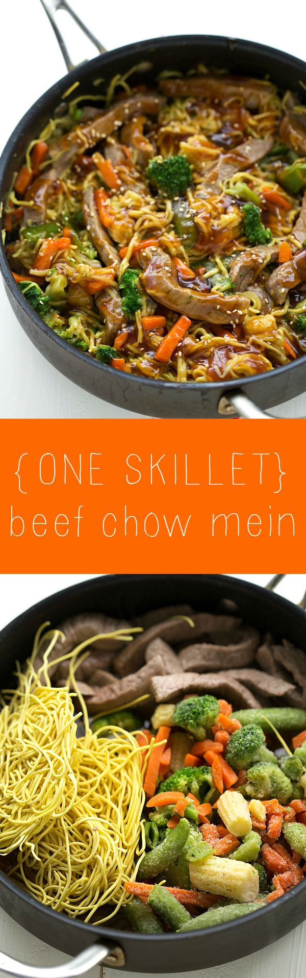 Chow Mein recipe but the sauce requires mostly on hand ingredients.
