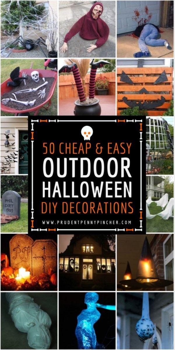 50 Cheap and Easy Outdoor Halloween Decor DIY Ideas Costume time