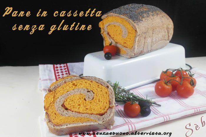 Pane in cassetta bigusto a lievitazione naturale (con LM) e mix di farine naturali con pomodoro e patè di olive nere #senzaglutine #vegan http://senzaebuono.altervista.org/pane-in-cassetta-senza-glutine-vegan-bigusto/