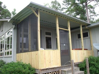 297 best images about mobile home porches on pinterest for Screened in porch ideas for mobile homes